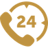 24 hour call icon